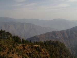 Mussoorie - view from Lal Tibba shows Himalayan ranges