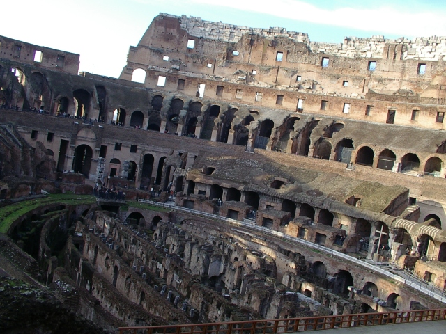 Interior view of Colosseum
