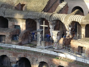 Cross in Colosseum